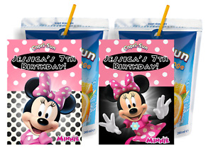 8 PINK MINNIE MOUSE CUSTOM CAPRI SUN LABELS BIRTHDAY PARTY FAVORS Suns STICKERS