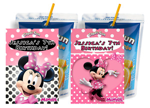 PINK MINNIE MOUSE CUSTOM CAPRI SUN LABELS BIRTHDAY PARTY FAVORS Suns STICKERS 4