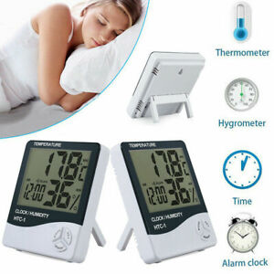 Portable LCD Digital Humidity Hygrometer Thermometer Monitor Weather Alarm Clock