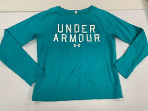 Under Armour Women's Sweatshirt Presumable Size Medium Or Large Teal Very Cute $7.99