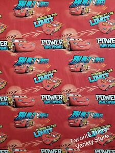 DISNEY CARS BUILT FOR SPEED BY THE 1 2 YARD cotton fabric.