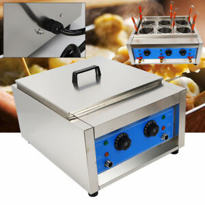 Commercial 6 Baskets Electric Noodle Cooker Pasta Cooking Machine 6KW Stainless