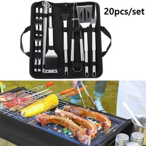 Grill Barbecue Utensil Accessories BBQ Tool Set Cooking Kit Stainless Steel