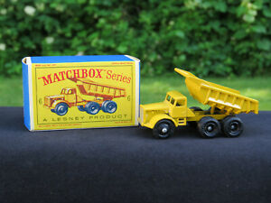 MATCHBOX LESNEY VINTAGE EUCLID QUARRY TRUCK #6: Look