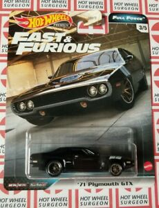 2020 Hot Wheels Fast & Furious Full Force * '71 Plymouth GTX * NIP 1:64 Scale
