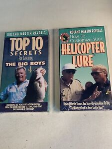 Roland Martin Reveals Lot Of 2 VHS Tapes Top 10 Secrets Helicopter Lure New Seal