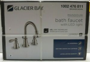 Glacier Bay Mandouri 8 in. Widespread 2-Handle LED Bathroom Faucet 1002 476 811