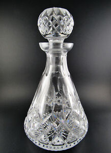 VINTGE WATERFORD CRYSTAL CUT GLASS DECANTER WITH STOPPER (LE)