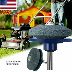Universal Garden Lawn Mower Fast Blade Sharpener Tool For Power Drill/Hand Drill