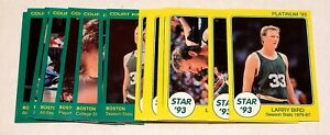 LARRY BIRD 1993 THE STAR CO. CELTICS 18 CARD SET ONE OF ONLY 750 SETS