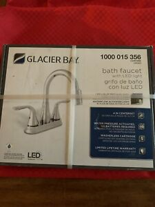 Glacier Bay bath faucet with LED 1000 015 356 - chrome New In Box! Free Shipping