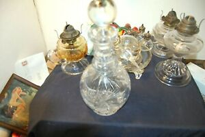 Vintage Heavy lead crystal decanter with stopper and design no reserve must see