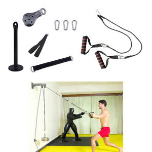 Solid Fitness Pulley Cable Machine Attachment LAT System DIY Build Kits Fittings
