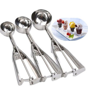 Durable Ice Cream Scoop Metal Cookie Dough Muffin Spoon Spherical Mould Tool