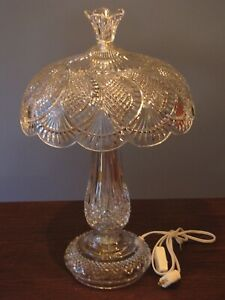 WATERFORD CRYSTAL SEAHORSE ALL CRYSTAL TABLE LAMP NEW!