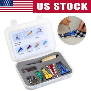 2020 Bias Binding Tape Maker Kit For Sewing amp; Quilting Awl and Binder Foot Tools $10.39