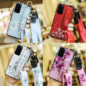 Bling Handle Strap Leather Case Cover For Samsung Galaxy Note 20 Ultra S20 S8 S9