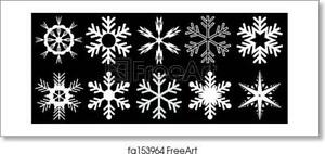 Snowflakes Art Print / Canvas Print. Poster, Wall Art, Home Decor