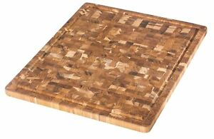 TeakHaus by Proteak End Grain Cutting/Serving Board + Juice Canal (Rectangle) |