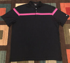Nike Dri Fit Tiger Woods Collection SS Golf Polo Shirt, Men's 2XL, Black $75 $22.50