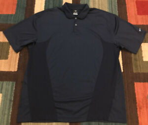 Nike Golf Dri Fit SS Golf Polo Shirt, Men's 2XL, Navy Blue, EUC $24.00