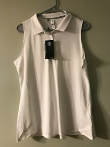 Under Armour womens golf polo shirt white size large New with tags! $18.25