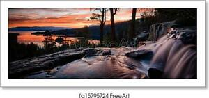 Lake Tahoe Art Print / Canvas Print. Poster, Wall Art, Home Decor