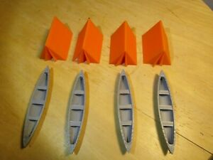 S SCALE CAMPING SET 4 TENTS 4 CANOES L@@K 1:64 1 64 3D PRINTED