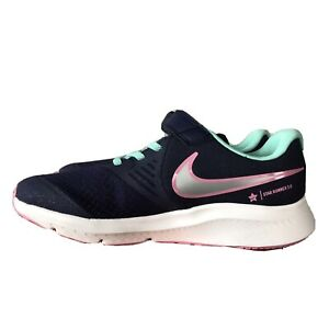 Nike girls youth star Runner 2 PSV shoes Dark Purple Green Gray Pink new $39.77