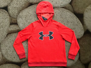 Under Armour Logo Hooded Hoodie Pullover Womens Size Large Orange NWT $55.00 $19.95