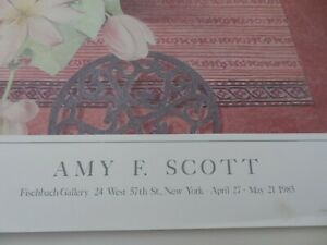 Vintage 1985 Amy F. Scott Lithograph NEVER USED Fischbach Gallery $39.99