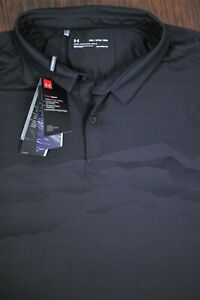NWT Under Armour ISO Chill Airlift Performance Polo Shirt Gray Black Men's 3XL $0.99