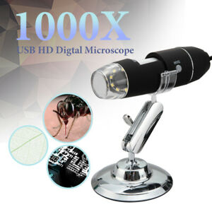 1000X 8LED Microscope Camera Magnifier USB Digital With Stand for iPhone Android $21.49