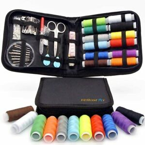 Vellostar NEEDLE and THREAD KIT for SEWING – Portable Basic Sewing Kits for $22.38
