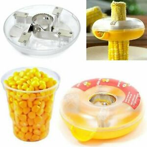 Corn Peeler Thresher Cob Kerneler One Step Cutter Stripper Remover Kitchen Tool