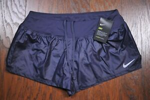 NWT Nike Dri Fit 3 Crew Lux Lined Shorts Gridiron Women's Large L $7.50