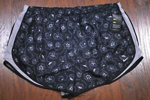 NWT Nike Dri Fit Tempo Lined Run Shorts Black Floral Women's 3X $1.25