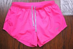 Nike Dri Fit Modern Tempo Embossed Lined Run Shorts Pink Women's Medium M $13.00