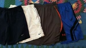 LOT of 4 NIKE UNDER ARMOUR ATHLETIC SHORTS MEN'S XL 35 40 WAIST $8.55