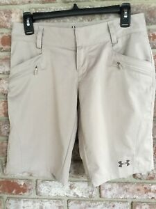 UNDER ARMOUR HEAT GEAR SEMI FITTED CASUAL GOLF SHORTS WOMENS SIZE 4 $9.99
