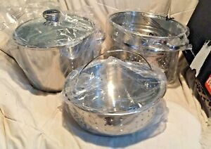 Berndes Stainless Steel  7.75 Qt. Multi-pot With Steamer & Pasta Inserts NIB