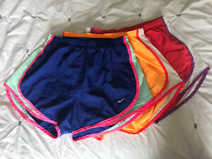 NIke Tempo DRI FIT LOT OF 3 Women's Brief Lined Running Shorts Size Medium $34.99