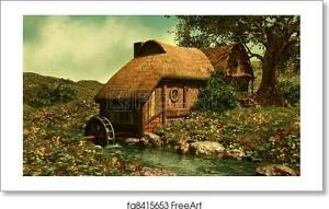 The Water Mill Art Print / Canvas Print. Poster, Wall Art, Home Decor