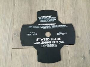 NEW 8 REVERSIBLE 4 POINT BRUSH OR WEED BLADE WITH 20mm ARBOR Husquavarna Etc