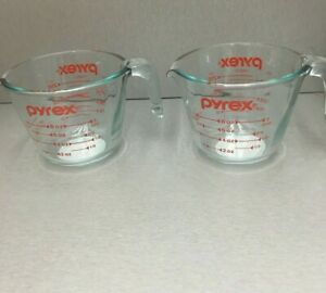 Pyrex Prepware 1-cup Measuring Cup, Red Graphics, SET OF '' 2''