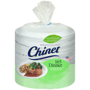 Chinet Classic White 10 3 8quot; Dinner Plates 165 ct.