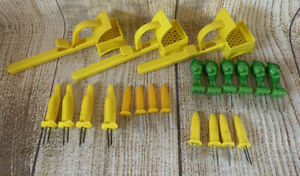 CORN ON THE COB BUTTER SPREADERs Lot Of 3 Plus 18 Misc. Corn Holders