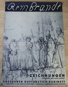 EAST GERMAN DDR EXHIBITION POSTER 1960 REMBRANDT DRAWINGS * ART PRINT $79.20