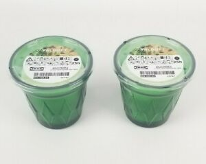 (Lot of 2) Ikea Valdoft Scented Candle in Glass, Thyme, Dark Green 3 ¼