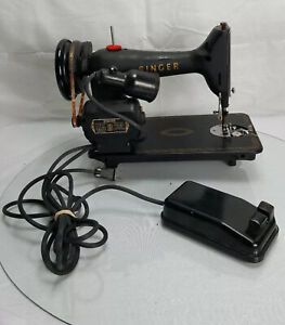 Vintage Singer Electric Needle Sewing Motor Machine Pedal AM 034195 Controller $200.00
